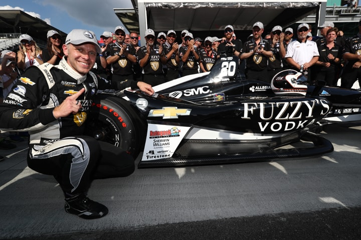 Carpenter Wins Third Indy Pole