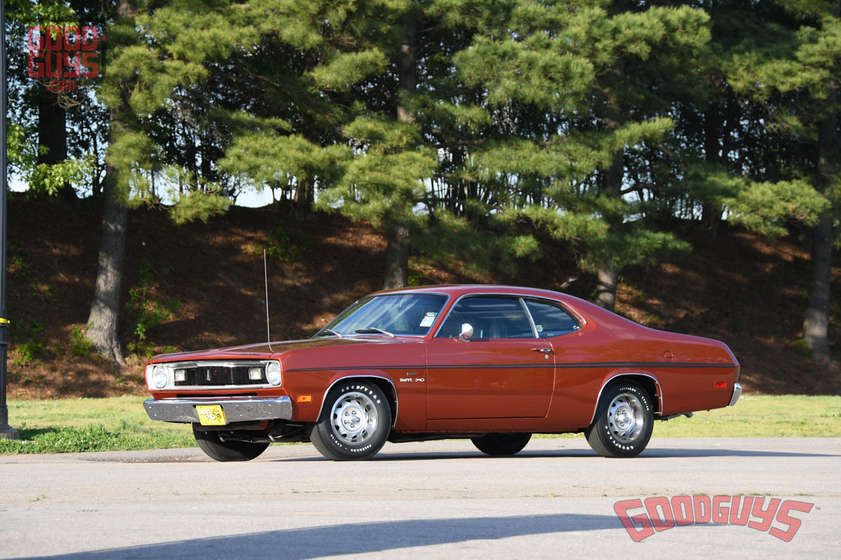 Mark & Marie Shaw's 1970 Plymouth Duster picking up the MSD Muscle Car of the Year