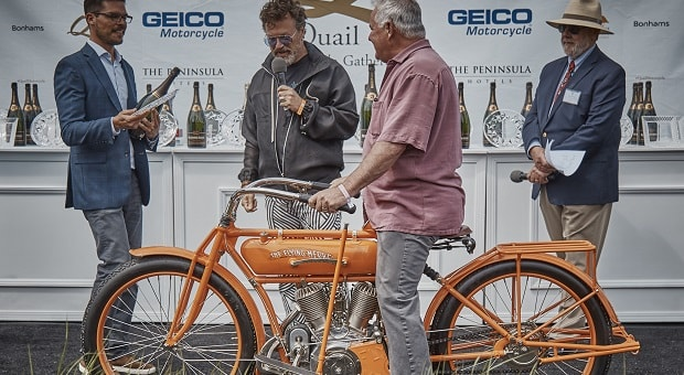 "Quail Motorcycle Gathering Names 1913 Flying Merkel Twin Named ""Best Of Show"""