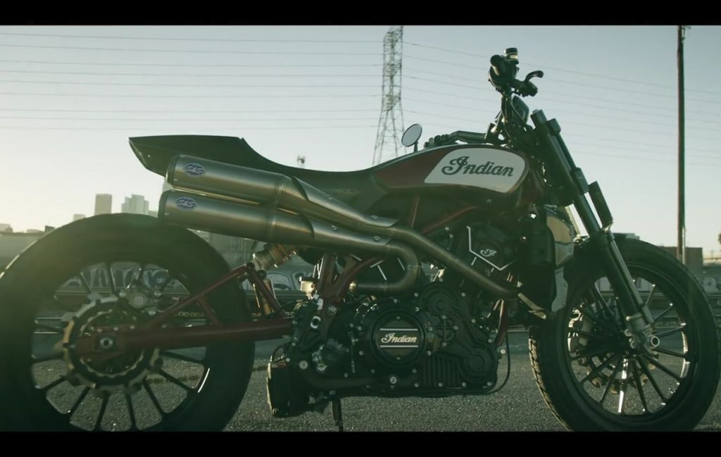 New Indian Custom is a Street-Legal Flat Track Racer