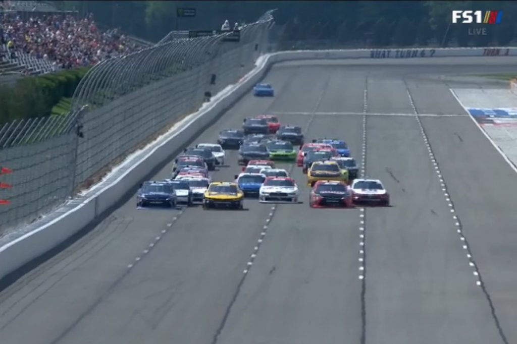 Busch and Truex Show as NASCAR Hits the Tricky Triangle
