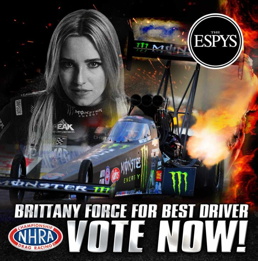 Last Chance to Vote for Brittany Force for an ESPY