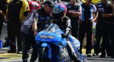 Can LE Tonglet Win his Second NHRA Pro Stock Motorcycle Title?