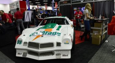 Darrell Waltrip #88 Gatorade Chevy Camaro on Display at PRI 2018 in RacingJunk Booth