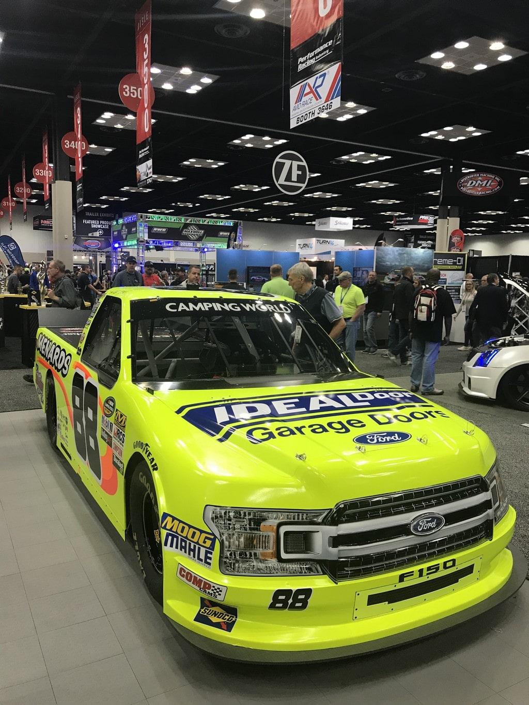 Darrell Waltrip #88 Gatorade Chevy Camaro on Display at PRI 2018 in RacingJunk Booth
