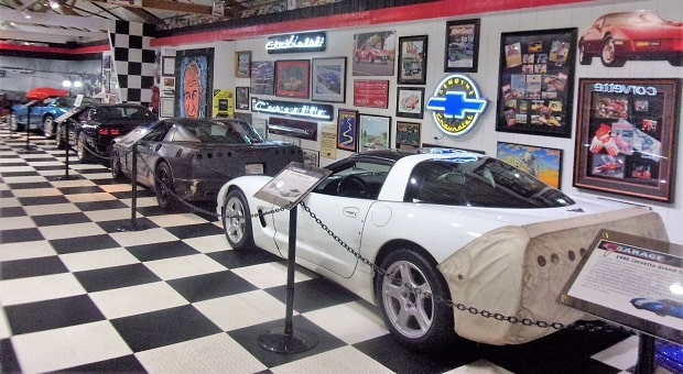 Two Rare Corvette Race Cars at MY Garage Corvette Museum