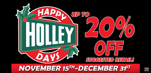 Happy Holley Days, Press release, news, holley