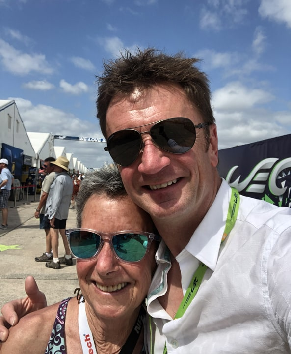 Anne Proffit and Allan McNish.
