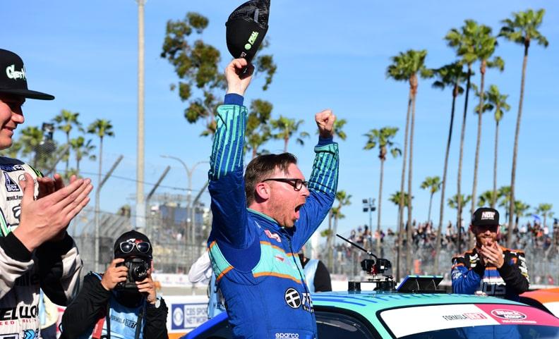 Bakchis Breaks Out at Long Beach Formula Drift