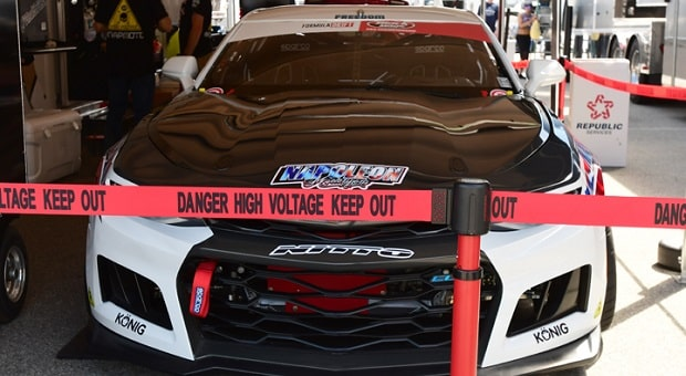 Napoleon Motorsports Forced to Park EL-1 Electric Camaro at Long Beach Formula Drift