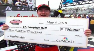 Bell Wins Dover/Dash4Cash; Truex Dominates Rain-Delayed Cup Race