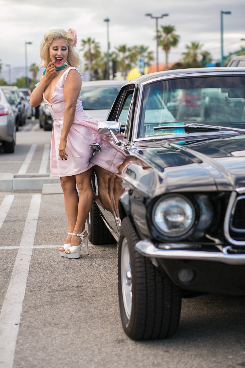 Pinup Pole Show Pinup of the Week: Tiffany Ford Mockler with a Ford Mustang