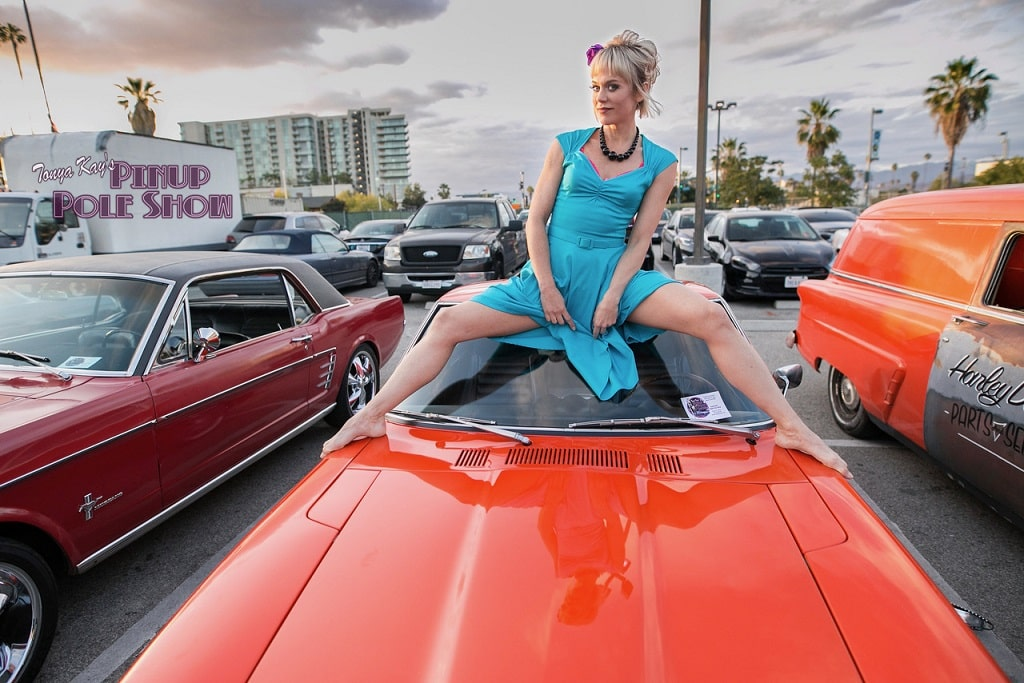 Pinup Pole Show Pinup of the Week: Tonya Kay with a 1973 Datsun 240Z