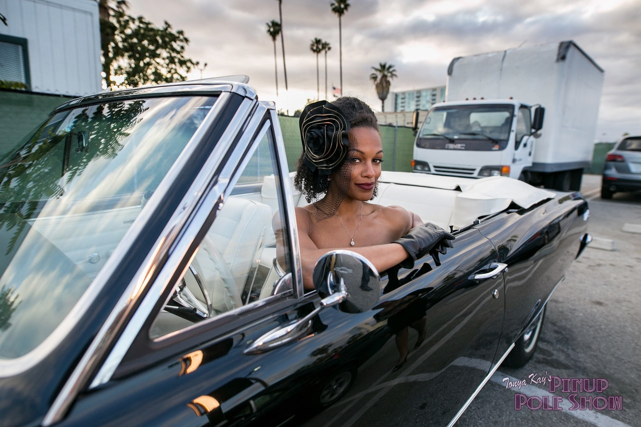 Pinup Pole Show Pinup of the Week: Candace Cane with a 1965 Chevy Chevelle Malibu SS