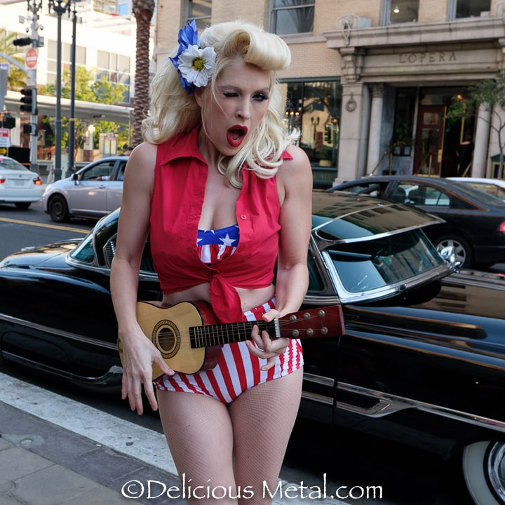 Pinup Pole Show Pinup of the Week: Pinup Pole Show with a 1953 Pontiac Chieftain