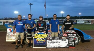 Mother Nature Couldn't Keep Sheppard from 12th WoO Late Model Win of the Year