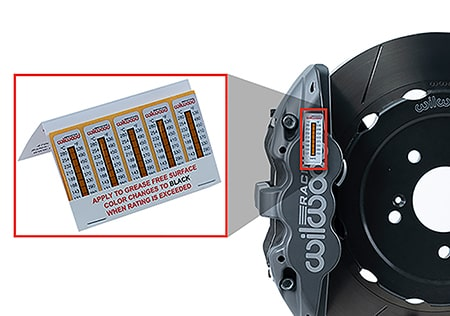 Wilwood Disc Brakes Announces New Brake Caliper Temperature Strips