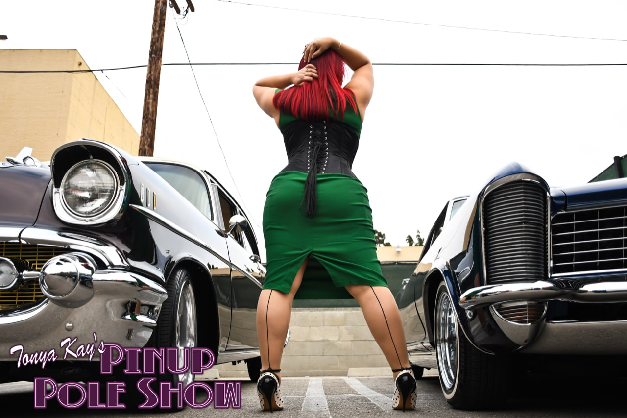 Pinup Pole Show Pinup of the Week: Cherry Rosie with a 1953 Chevy Bel Air