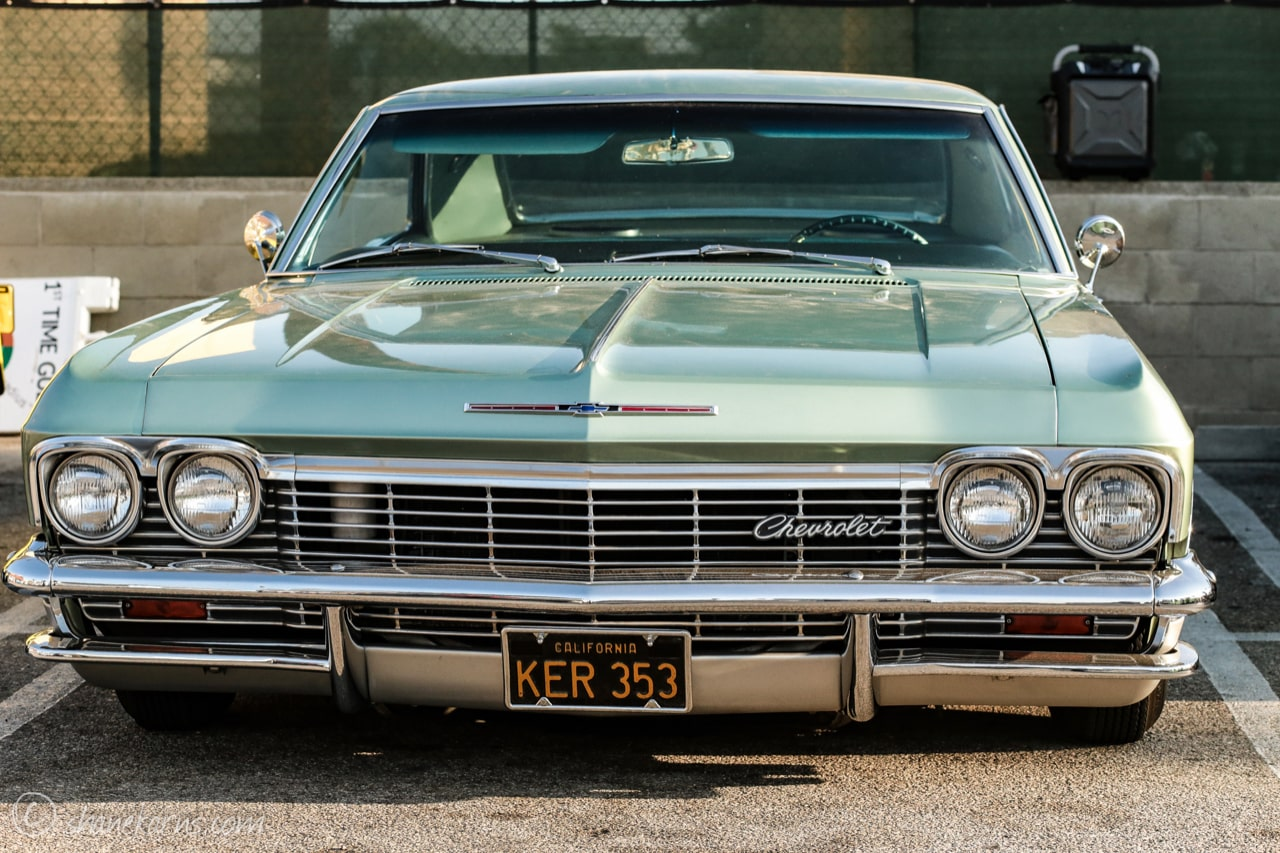 Pinup Pole Show Pinup of the Week: Kate Bera with a 1965 Chevy Impala