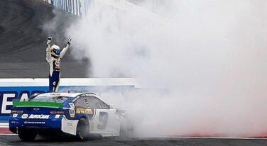 Elliott Drives Straight into Tire Barrier, Battles Back for NASCAR Roval Win
