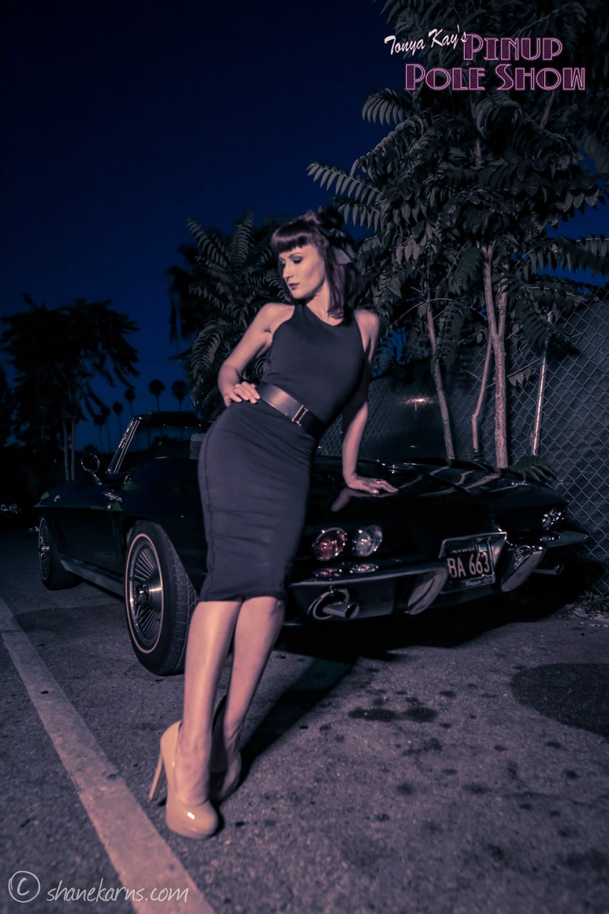 Pinup Pole Show Pinup of the Week: Sierra Scott with a 1966 Corvette Convertible
