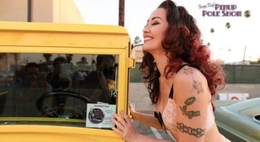 Pinup Pole Show Pinup of the Week: Monica Kay with a 1929 Ford Model A