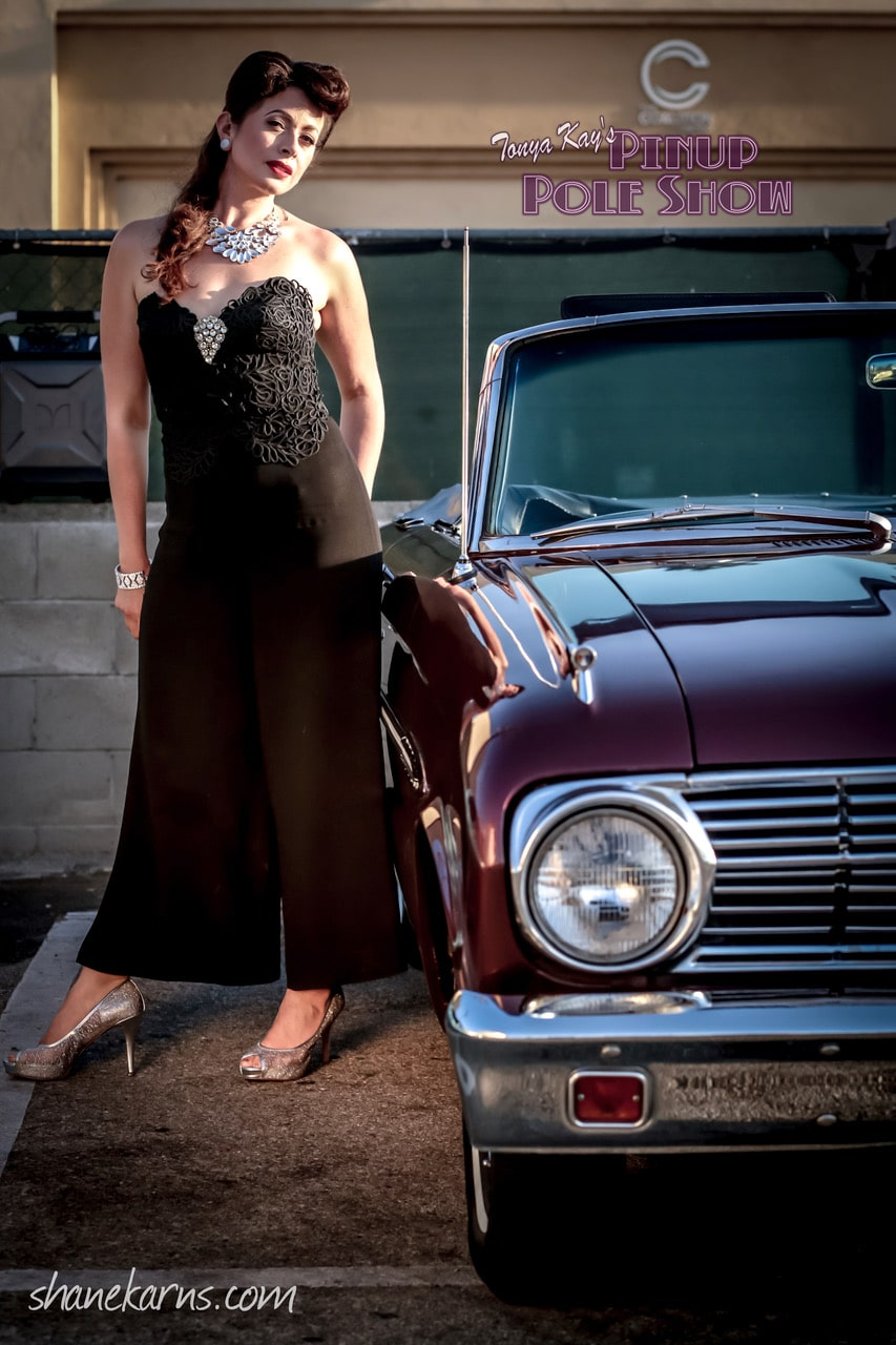 Pinup Pole Show Pinup of the Week: Francesca Esker with a 1963 Ford Falcon
