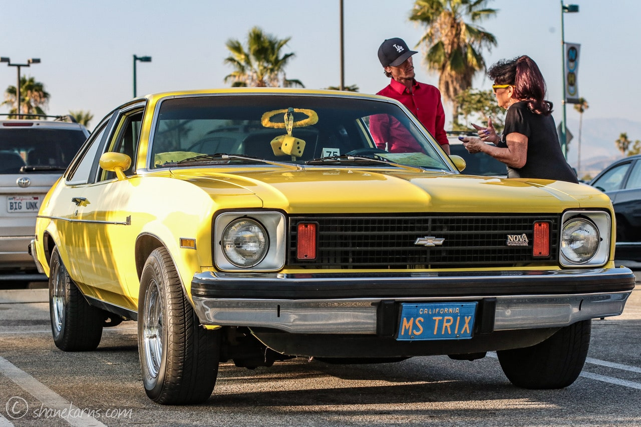Pinup Pole Show Pinup of the Week: Pinup Pole Show with a 1973 Chevy Nova