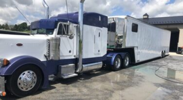 Today's Cool Car Find is this Epic Peterbilt/Stacker Trailer for $115,000