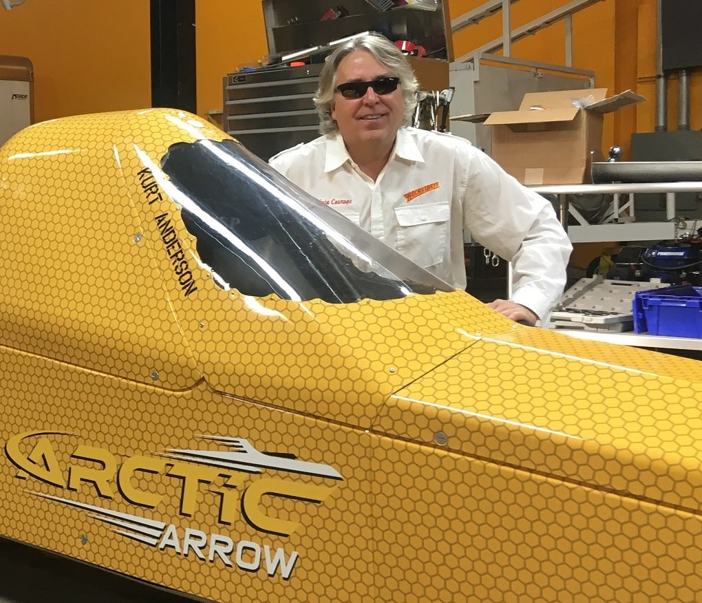 RacingJunk has First-Row Seat on Ice Speed Record Run