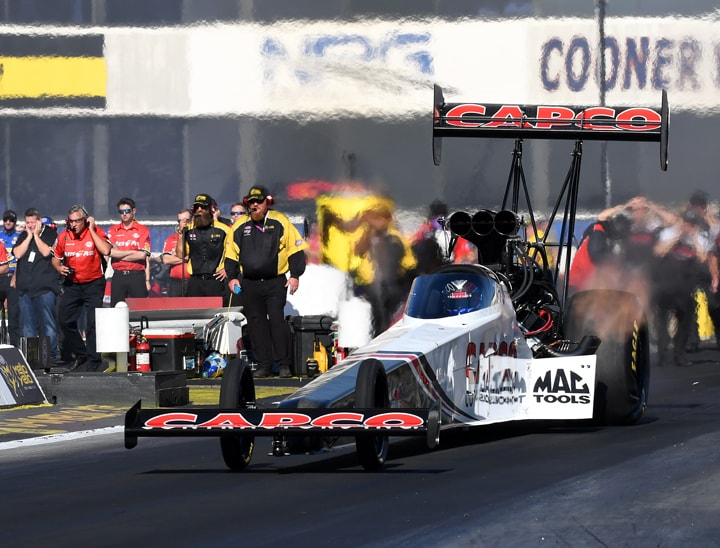 Steve Torrence at Pomona NHRA