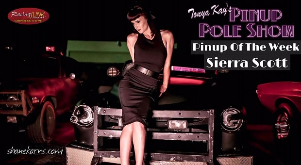 Pinup Pole Show Pinup of the Week: Sierra Scott with a 1951 Mercury