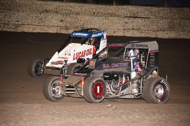 Kyle Larson Claims Turkey Night Grand Prix Win