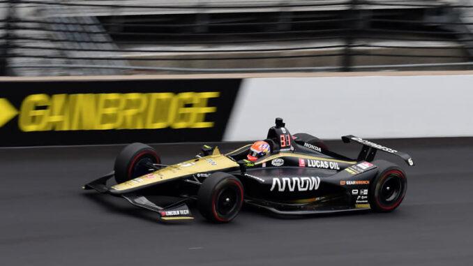 Hinchcliffe Action Shot at Indy