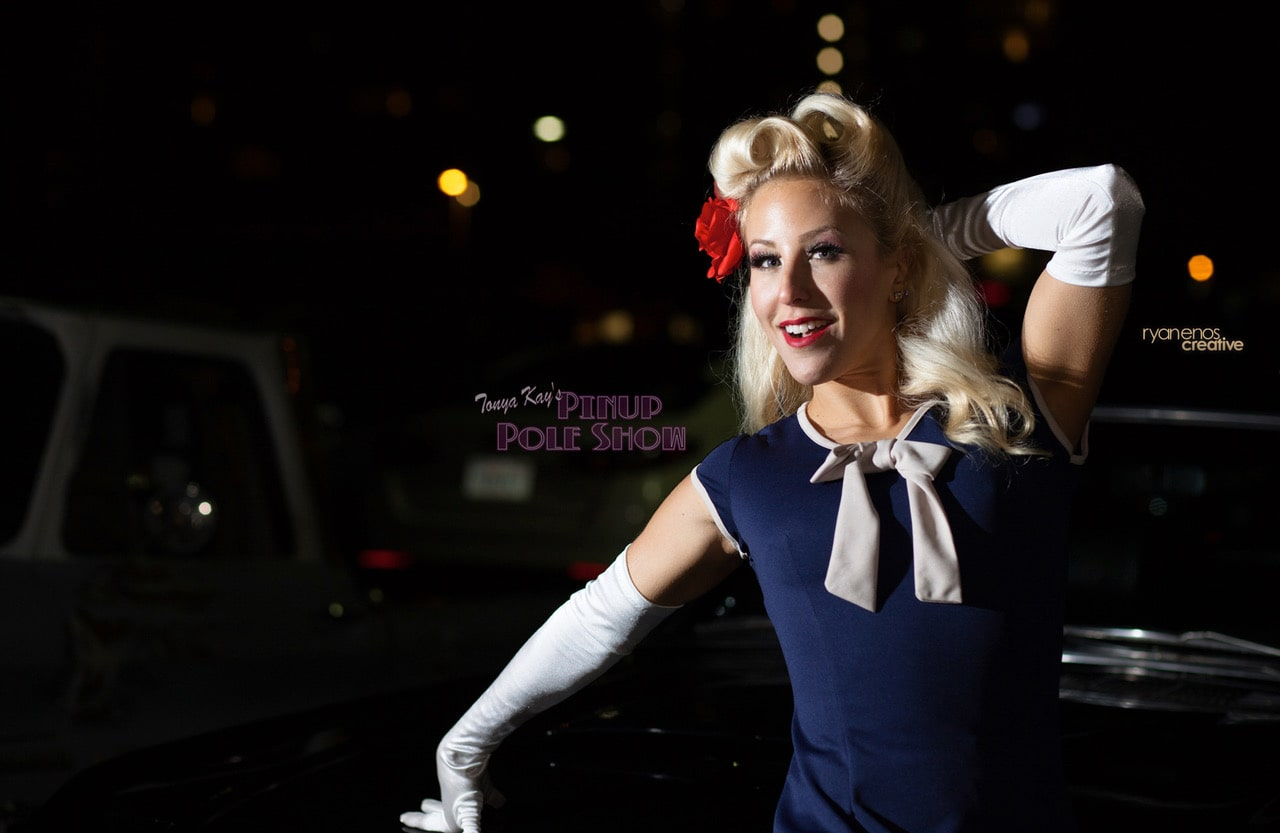 Pinup Pole Show Pinup of the Week: Tiffany Rose with a 1965 Ford Mustang Fastback