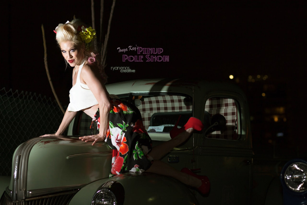 Pinup Pole Show Pinup of the Week: Heather Lou with a 1940 Ford Truck