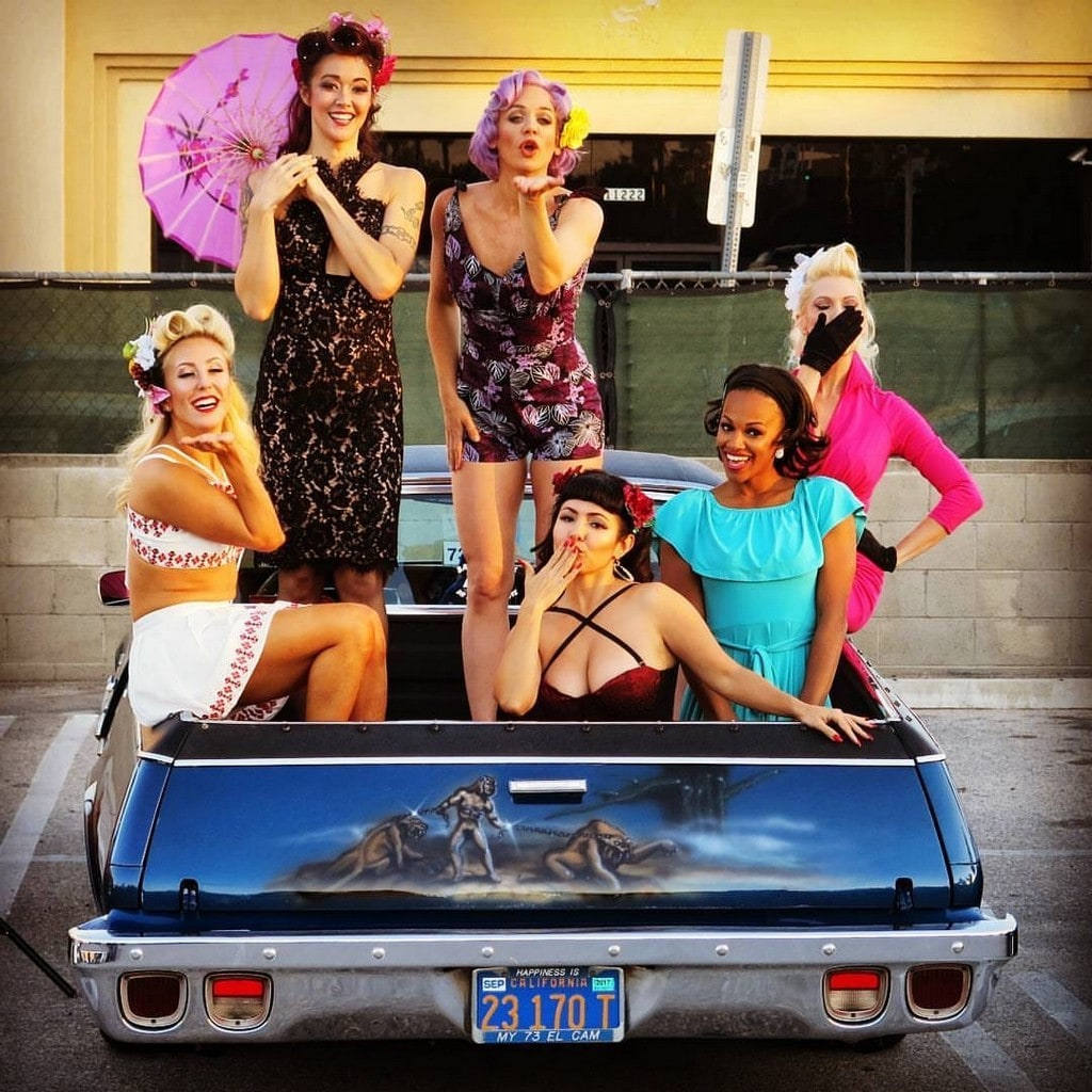 Pinup Pole Show Pinup of the Week: Pinup Pole Show with an El Camino