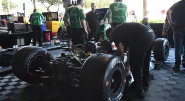 Herta Indy Car Transporter Suffers Fire