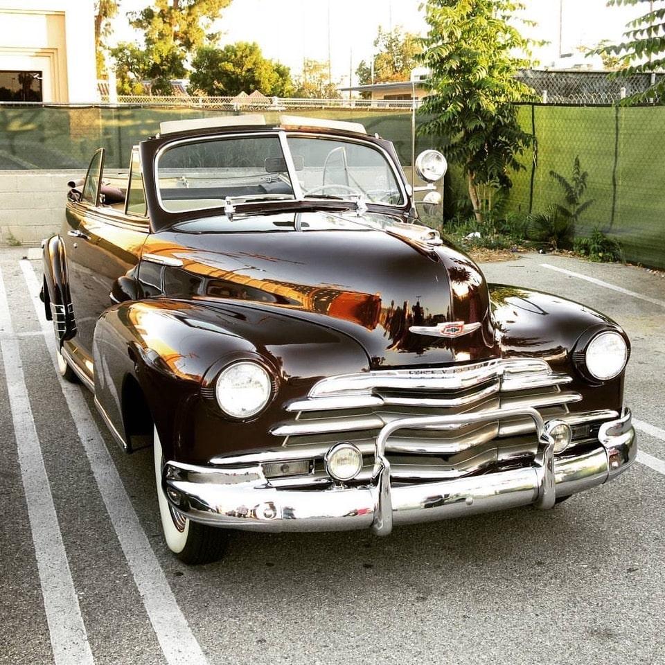 Fernando Ubrie's 1947 Chevy convertible
