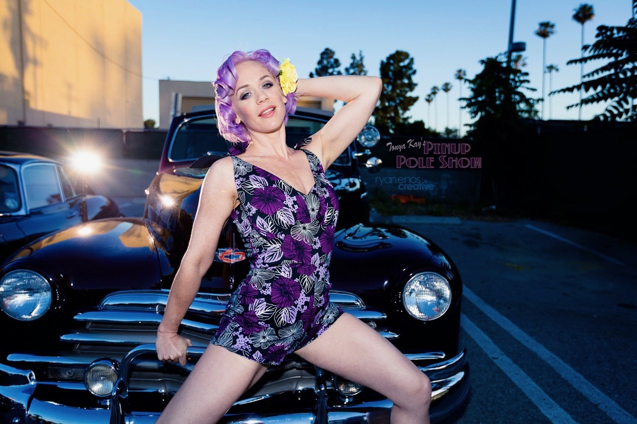 Tonya Kay and Fernando Ubrie's 1947 Chevy convertible