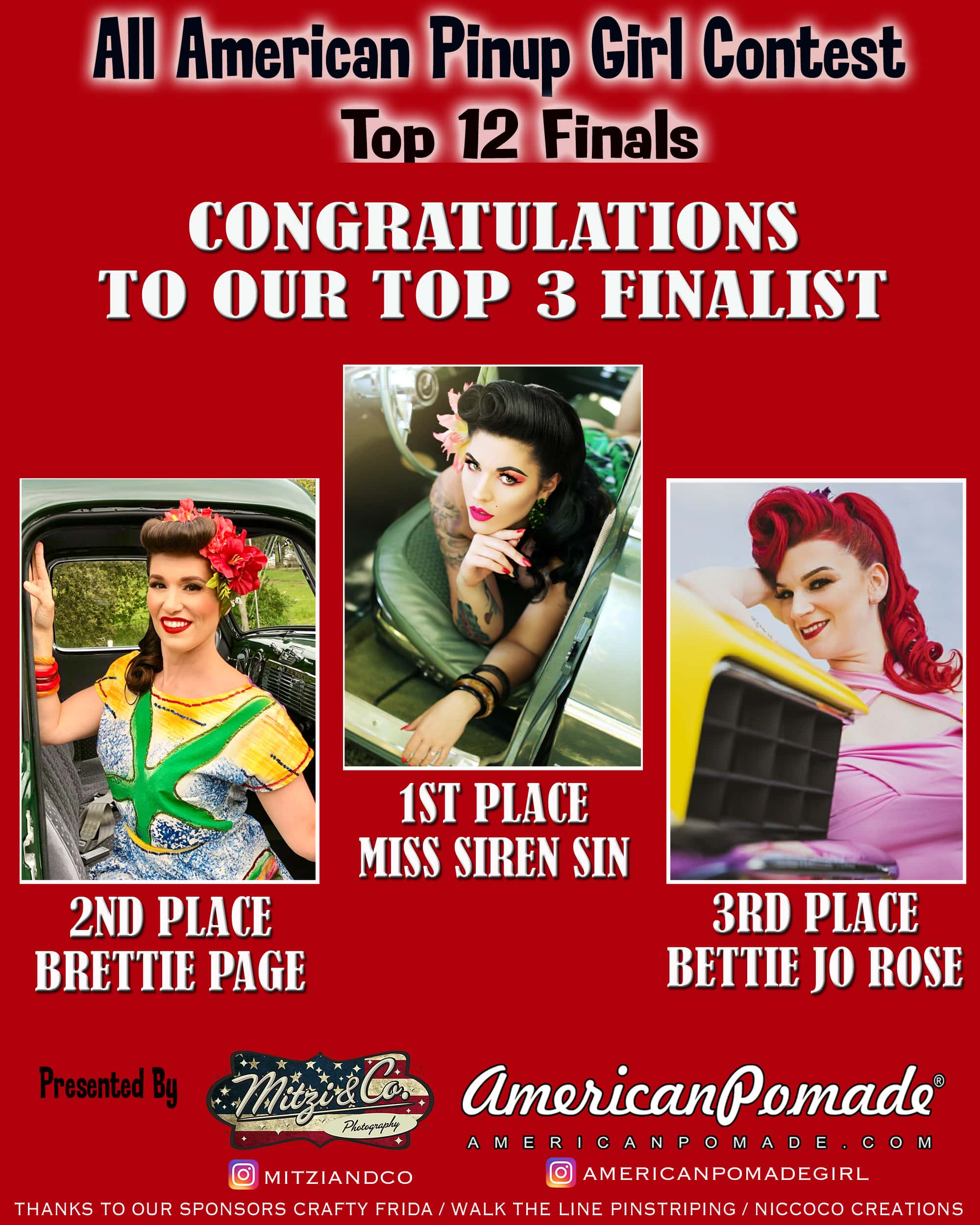 Miss All American Pinup