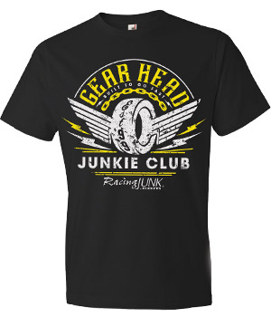 RacingJunk Black Gear Head T-Shirt
