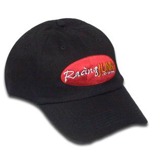 RacingJunk Black Hat with Oval Logo