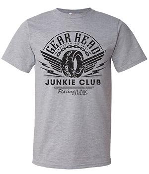 RacingJunk Gray Gear Head T-shirt