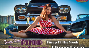 Pinup Pole Show Pinup of the Week: Cherry Rosie with a 1954 Chevy Pickup