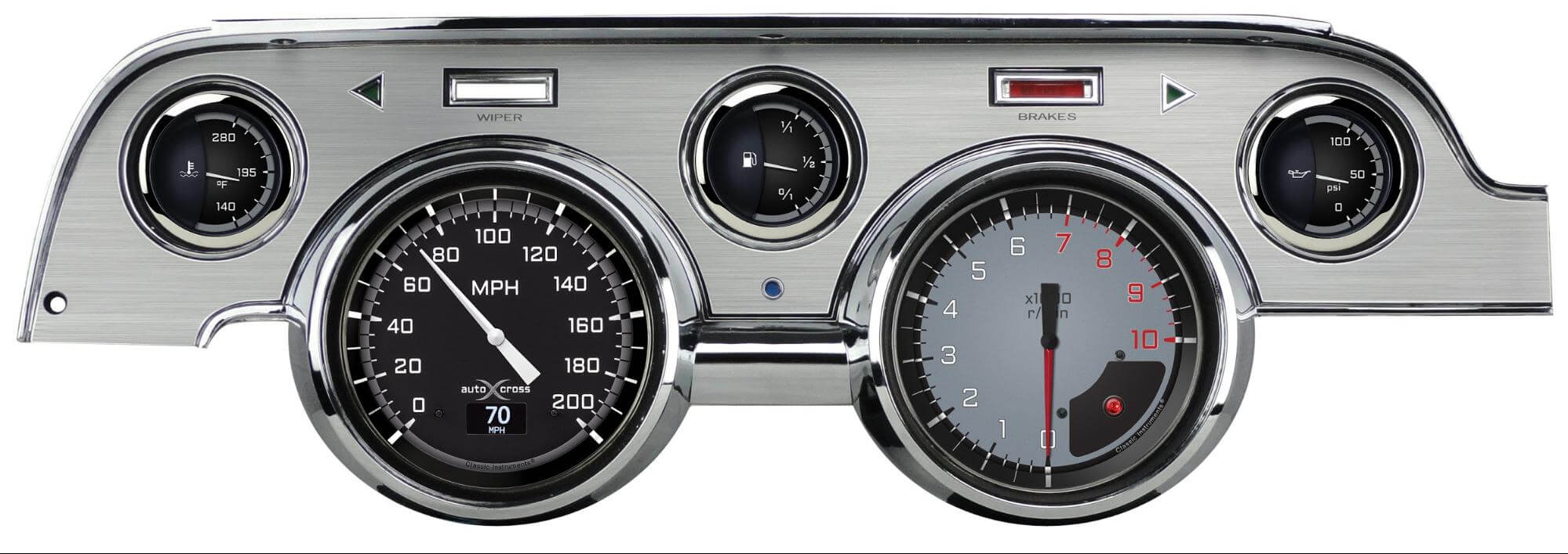 Classic Instruments 1967-'68 Mustang Cluster with OLED Screen
