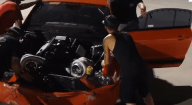 [Video] Street Outlaws Boosted GT Goes Into the Wall at Extreme Raceway Event