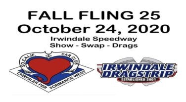 Irwindale to Host 25th Anniversary All-Mopar Fall Fling
