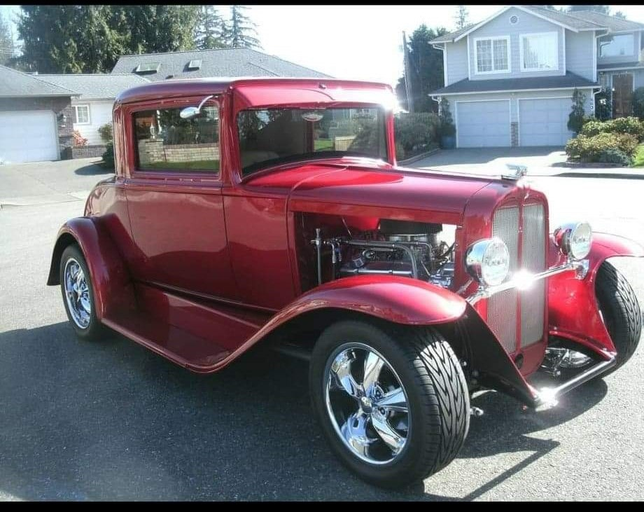 Rod Johnson, Everett, WA- 1930 Pontiac 3 window coupe
