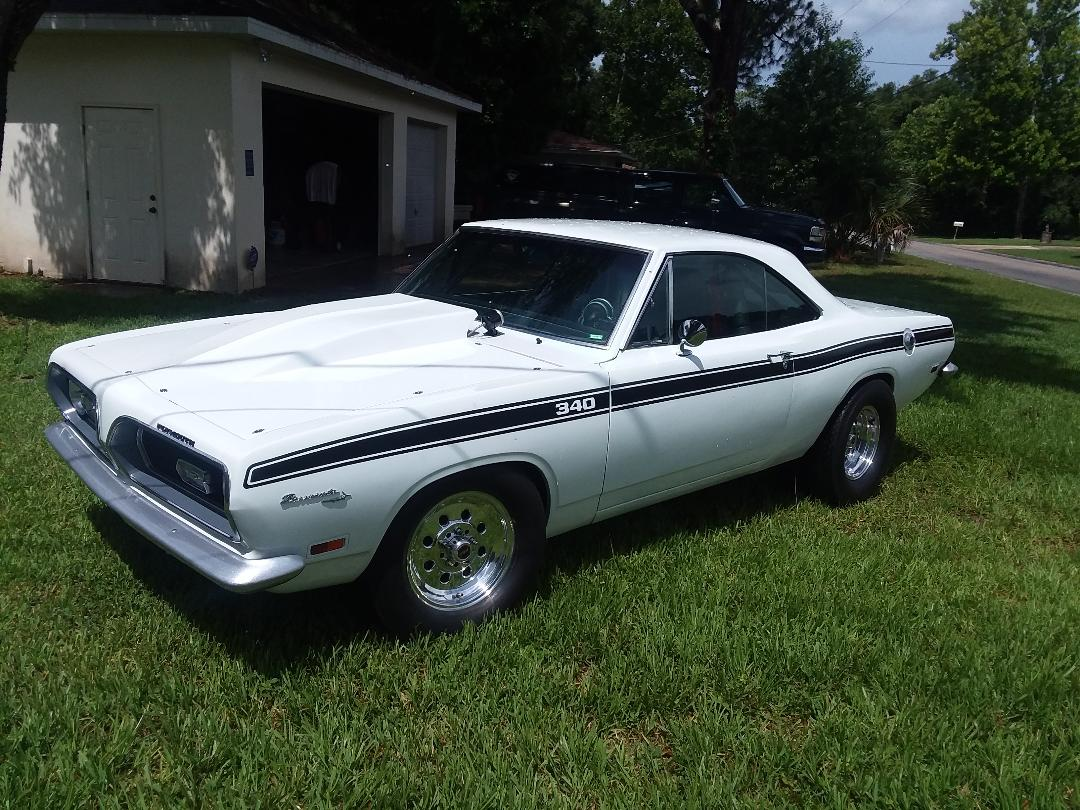 Steve Liechty, Inverness, FL -1969 Plymouth Barracuda